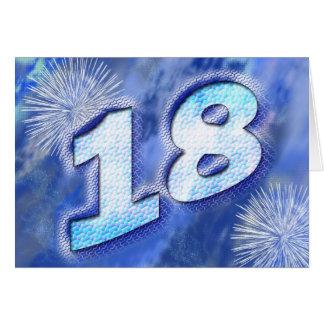 18 birthday card with fireworks