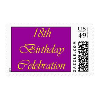 18 Birthday Celebration Stamps