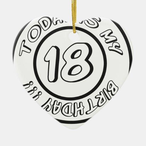 18 BIRTHDAY CHRISTMAS ORNAMENT