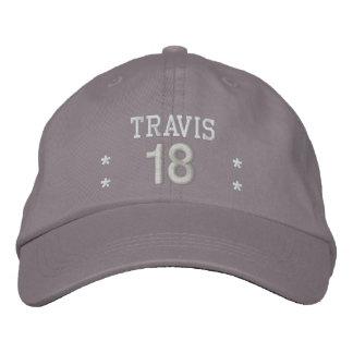 18 Birthday Custom Name WHITE GRAY Embroidery V55 Embroidered Baseball Cap