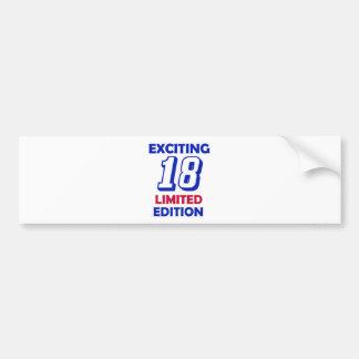18 birthday design bumper sticker