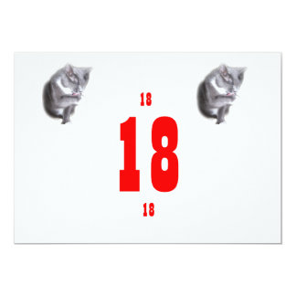 18 Birthday Kitties Personalized Announcement