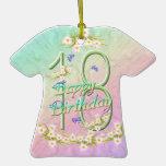 18 Birthday Rainbow T-Shirt Ornament