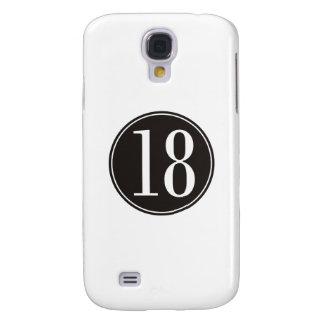 #18 Black Circle (front) Samsung S4 Case