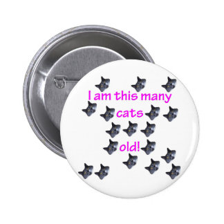 18 Cat Heads Old Pinback Button