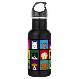 18 Dogs Stainless Steel Water Bottle