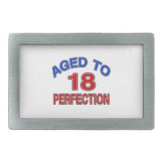 18 envejecido a la perfección hebilla cinturon rectangular