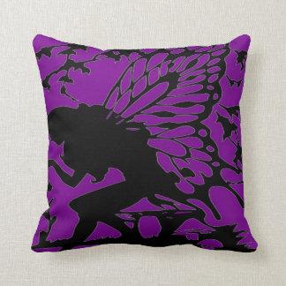 #18-Fairy sitting on Mushroom Throw Pillow