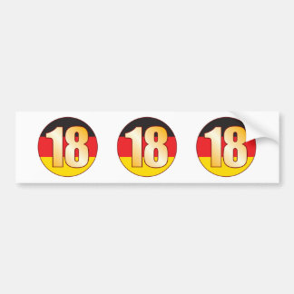 18 GERMANY Gold Bumper Sticker