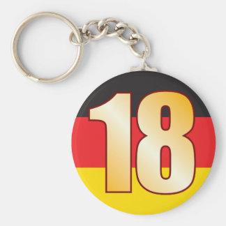 18 GERMANY Gold Keychain