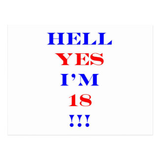 18 Hell yes! Postcard
