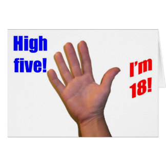 18 High Five Greeting Card