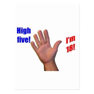 18 High Five! Postcard