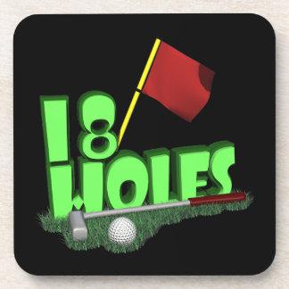 18 Holes Coaster