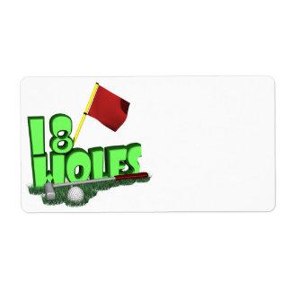 18 Holes Label
