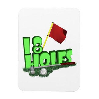 18 Holes Magnet