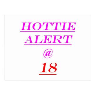 18 Hottie Alert Postcard