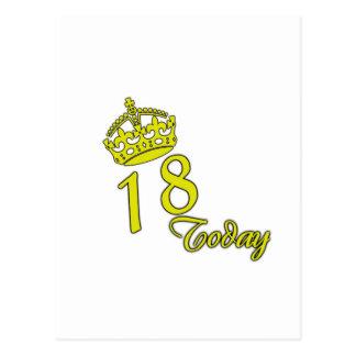 18 hoy. Cumpleaños Postales