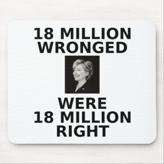 18 million wronged, mousepad