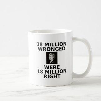 18 million wronged, mug