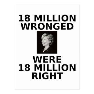 18 million wronged, postcard