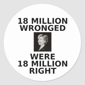 18 million wronged, stickers