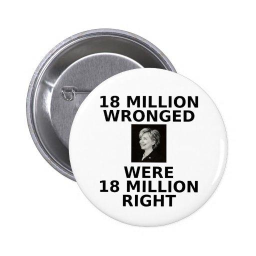 18 millones perjuicios, botón estándar pins