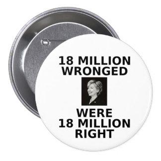18 millones perjuicios, botón grande pins