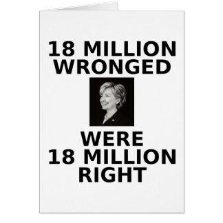 18 millones perjuicios, tarjeta de nota