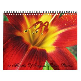 18 Month Calendar Of Original Flower Photos...