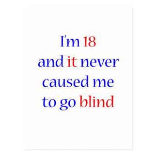 18 never gone blind postcard