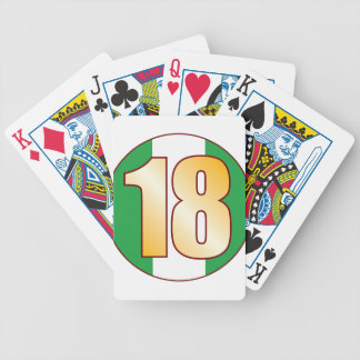 18 NIGERIA Gold Bicycle Playing Cards