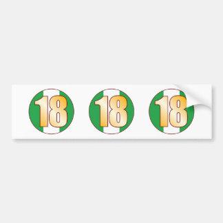 18 NIGERIA Gold Bumper Sticker