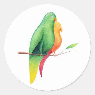 #18 – Pappagalli Classic Round Sticker