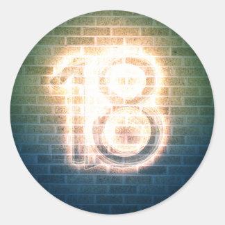 18 ETIQUETAS REDONDAS