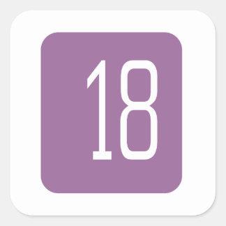 #18 Purple Square Square Sticker