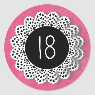 18 rosas años y cordón V009Q del pegatina del cump