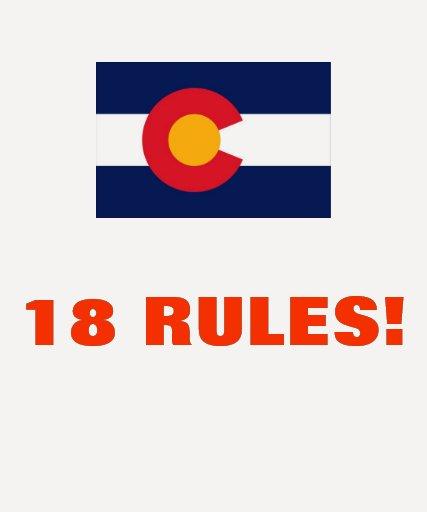 18 RULES! SHIRT