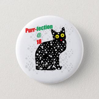 18 Snow Cat Purr-fection Pinback Button