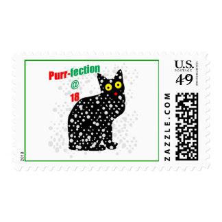 18 Snow Cat Purr-fection Postage