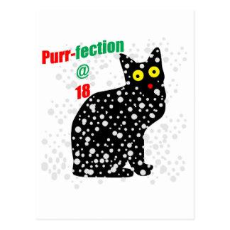 18 Snow Cat Purr-fection Postcard