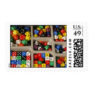 18) surtidos de la colección de los dados del sello