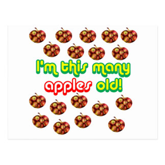 18 This Many Apples Old Postcard