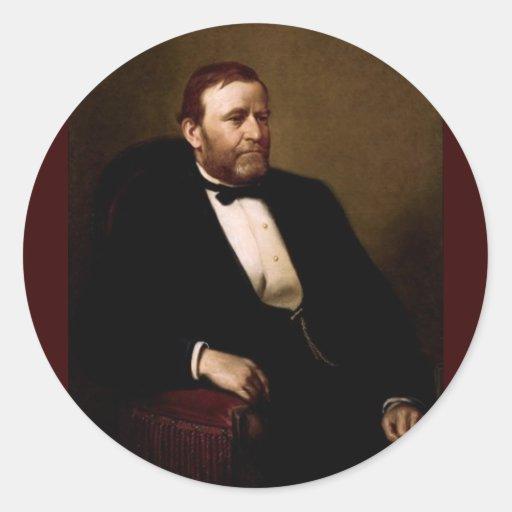18 Ulises S. Grant Pegatina Redonda