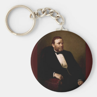 18 Ulysses S. Grant Basic Round Button Keychain