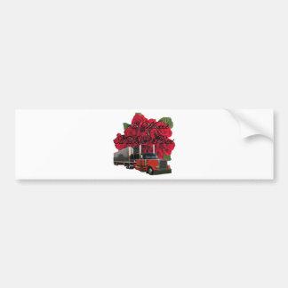 18 Wheels and a Dozen Roses Bumper Sticker