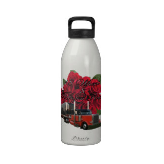18 Wheels and a Dozen Roses Drinking Bottle