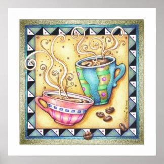 "18""X18"" ARCHIVAL PRINT - COOL BEANS! Coffee Art"