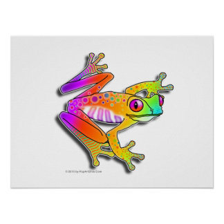 "18""X24"" POSTER or ARCHIVAL PRINT - FROG POP ART"
