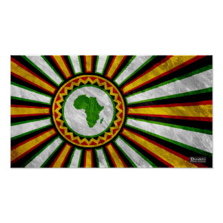 "18"" x 10"" Africa Rising Banner Painting Poster"